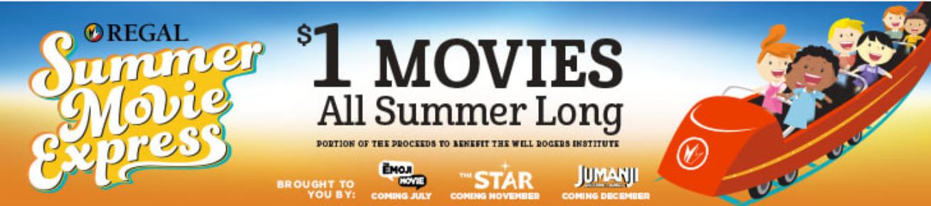 Regal Summer Movie Express - $1 movies all summer long